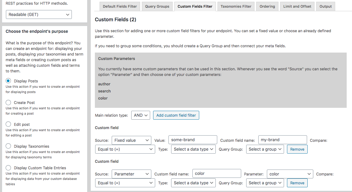 Adding Custom Fields Filters for Posts Custom Endpoints